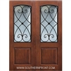 Charleston 8-0 2/3 Arch Lite FG WI Knotty Alder One Panel Double