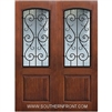 St Charles 8-0 2/3 Arch Lite FG WI Knotty Alder One Panel Double