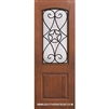 Austin GBG 8-0 Arch Lite Fiberglass Knotty Alder 1 Panel Single