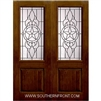 Brazos 8-0 2/3 Lite Knotty Alder Fiberglass 1 Panel Double