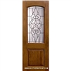 Brazos 8-0 2/3 Arch Lite Knotty Alder Fiberglass 1 Panel Single