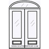 Brazos 8-0 2/3 Arch Lite Knotty Alder Fiberglass 1 Panel Double and Elliptical Transom