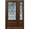 St Charles 6-8 3/4 Lite FG WI Cherry 1 Panel Single and 1 Sidelight