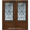 St Charles Arch Lite Cherry 1 Panel Double