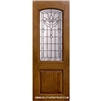 Palmetto 8-0 2/3 Arch Lite Knotty Alder Fiberglass 1 Panel Single
