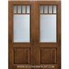 SDL 8-0 2/3 Lite 5 Lite Craftsman Knotty Alder One Panel Double