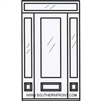 SDL 8-0 10 Lite Craftsman 1 Panel Single, 2 Sidelights and a Rectangular Transom