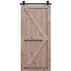 6-8 Double Z Two Panel Barn Door 2-6 x 6-8