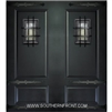 6-8 2 Panel Therma Plus Steel Door with Speakeasy and Straps Double