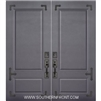6-8 2 Panel Therma Plus Steel Door with Corner Straps Double