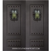 6-8 2 Panel Therma Plus Steel Door with Speakeasy and Clavos Double