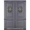 8-0 2 Panel Therma Plus Steel Door with Speakeasy and Straps Double