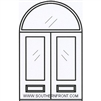 Palermo GBG 6-8 Arch Lite Double with Half Round Transom
