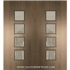 Venice Mahogany Door with Grille 6-8 Double