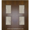 Newport Mahogany Door with Grille 6-8 Double