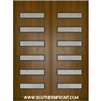 Beverly Mahogany Door with Grille 8-0 Double