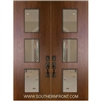 Newport Mahogany Door with Grille 8-0 Double