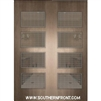 Santa Monica Mahogany Door with Grille 8-0 Double