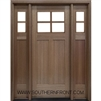 SH222 4 Lite Shaker Style Craftsman Single and 2 Sidelights