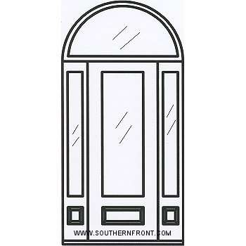 sc 1 st  Southern Front Doors & Barrington 8-0 3/4 Lite Single 2 Sidelights and Half Round Transom