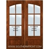 Square Top Arch Lite Knotty Alder 6 Lite TDL Double 6-0 x 8-0