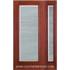 FCM141-RT 6-8 Fiber Classic Mahogany Fiberglass Raise/Tilt Internal Blinds Single and 1 Sidelight