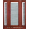 FCM141-RT 6-8 Fiber Classic Mahogany Fiberglass Raise/Tilt Internal Blinds Single and 2 Sidelights