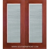FCM141-RT 6-8 Fiber Classic Mahogany Fiberglass Raise/Tilt Internal Blinds Double