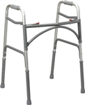 Drive Bariatric Aluminum Folding Walker, Two Button