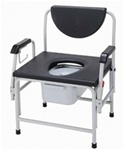 Drive Commode, Large Bariatric Drop Arm 850 lbs. capacity