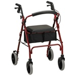 "Nova Zoom Rollators Come in 4 Different Seat Heights of 18, 20, 22, and 24 inches for People between 4'10"" to 6'2"""