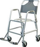 Lumex Deluxe Shower Transport Chair with Footrests