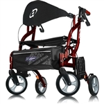 Airgo Fusion Hemi Height Side-Folding Rollator & Transport Chair