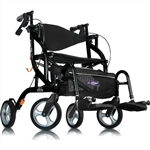 Airgo Tall Fusion Side-Folding Rollator & Transport Chair