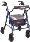 Airgo Duo Rollator Midnight Blue
