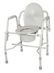 Drive Deluxe Steel Drop-Arm Commode