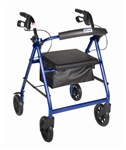 "Drive Aluminum Rollator w/Fold Up and Removable Back Support, Padded Seat, 8"" Casters"