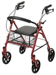 "Drive Rollator Steel 4 Wheel with Fold Up Removable Back, 7.5"" Casters"