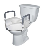 Drive 2 in 1 Locking Elevated Toilet Seat with Tool Free Removable Arms