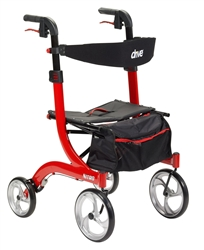 Drive Nitro Tall Rollator Side to Side Folding