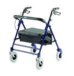 "Invacare Bariatric Rollator with padded seat and basket 8"" casters 66550"
