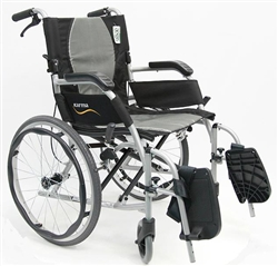 Karman Ergo Flight Super Lightweight Wheelchair w/ Handle Brakes S-2512