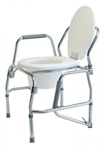 Lumex Commode Three-In-One Steel Drop Arm Platinum Collection 6437A