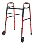 "Lumex Adult Walker with 5"" Wheels ColorSelect"
