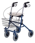 Lumex Deluxe Four Wheeled Rollator Bariatric RJ4200A
