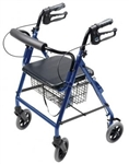 Lumex Hemi Rollator Walkabout Four Wheel RJ4302