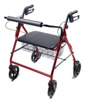 Lumex Walkabout Four-Wheel Imperial Rollator - Straight Backbar RJ4400