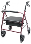 Lumex Rollator Imperial Bariatric Walkabout Four-Wheel RJ4402R
