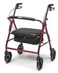 Lumex Walkabout Four-Wheel Imperial Rollator - Contoured Backbar RJ4405