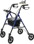 "Lumex Rollator Set N' Go <u>WIDE</u> 15.75"" Seat, With Adjustable Seat Height"